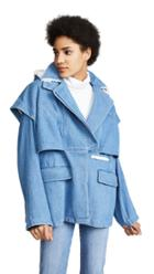 Courreges Jacket Double Breasted With Hood