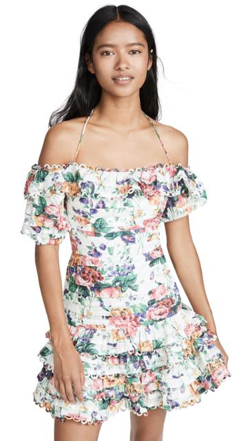 Zimmermann Allia Pintuck Short Dress