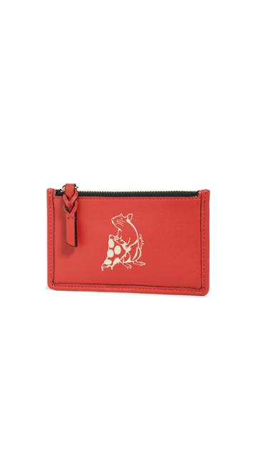 Rag Bone Pizza Rat Field Zip Card Case