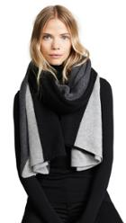 White Warren Cashmere Instarsia Travel Wrap Scarf