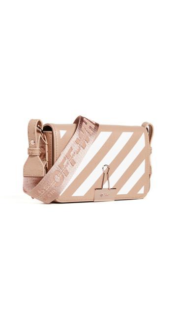 Off White Diagonal Mini Flap Bag