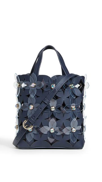 Zac Zac Posen Floral Bouquet Small North South Shopper Bag