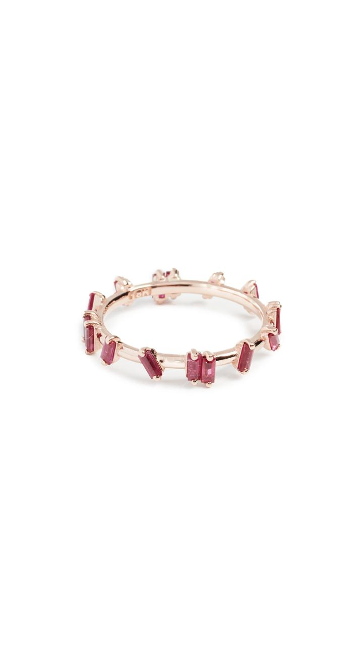 Suzanne Kalan 18k Gold Ruby Barbwire Ring