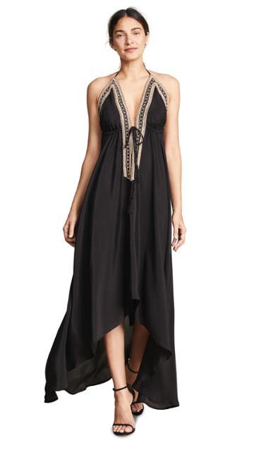 Loyd Ford Beaded Maxi Dress