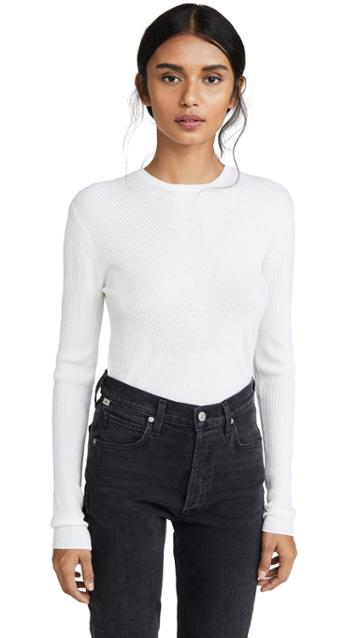 Theory Moving Rib Crew Pullover