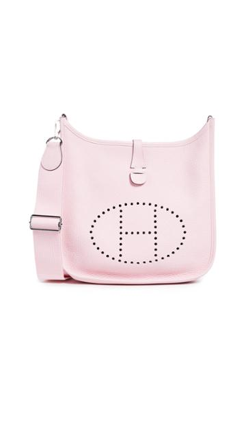 What Goes Around Comes Around Hermes Pink Clemence Evelyne Iii Pm Bag