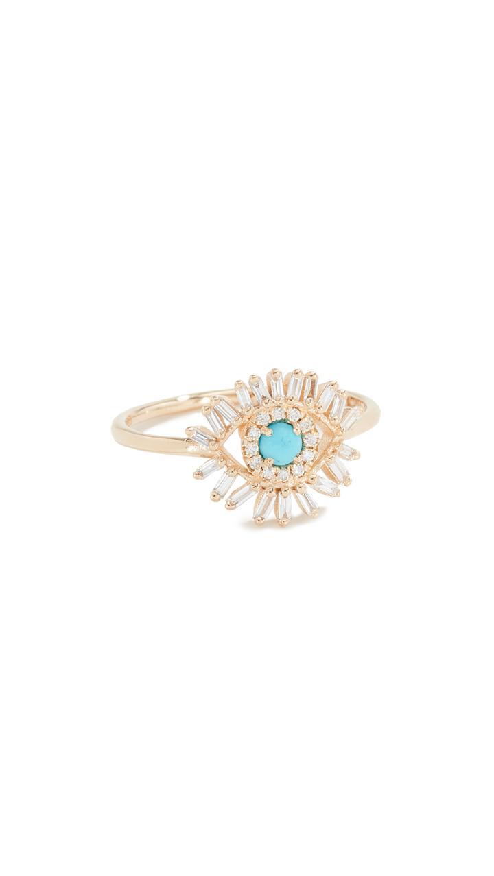 Suzanne Kalan 18k Evil Eye Ring