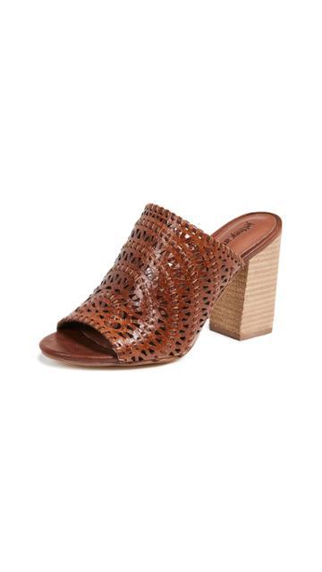Jeffrey Campbell Kelowna Woven Block Heel Mules
