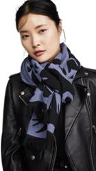 Mcq Alexander Mcqueen Cut Up Swallow Scarf