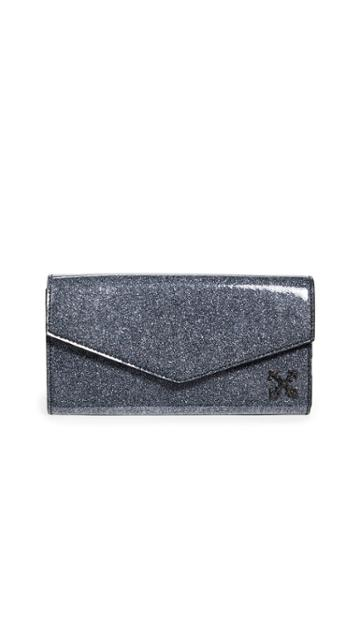 Off White Glitter Long Wallet
