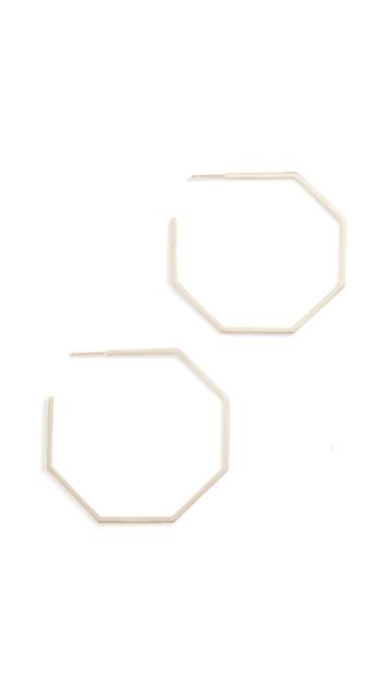 Lana Jewelry 14k Octagon Hoops