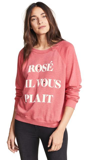 Wildfox Rosé S Il Vous Plait Sweater