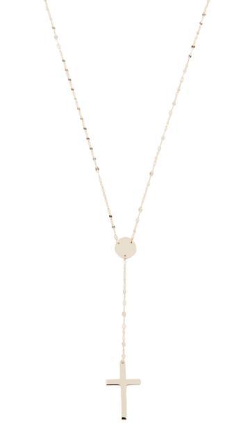 Lana Jewelry 14k Crossary Necklace