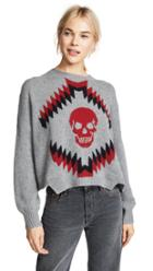 360 Sweater Cashmere Geometric Skull Sweater