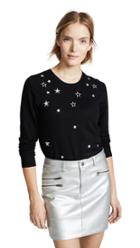 Rebecca Minkoff Lilita Sweater With Star Embroidery