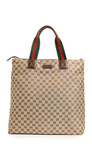 What Goes Around Comes Around Gucci Gg Canvas Tote Previously Owned