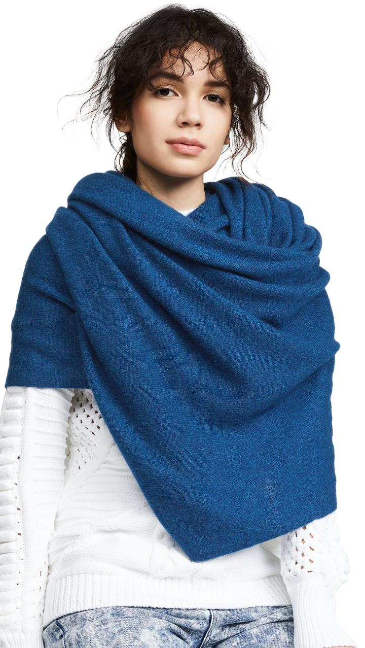 White Warren Travel Wrap Cashmere Scarf
