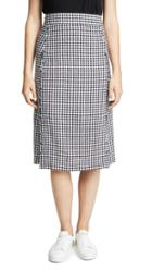 Madewell Gingham Pencil Skirt