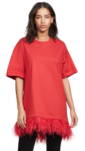 Marques Almeida Feather Hem T Shirt