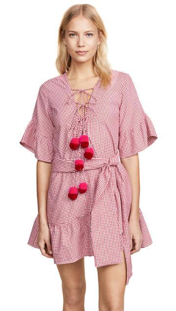 R13 3 4 Sleeve Cowboy Dress
