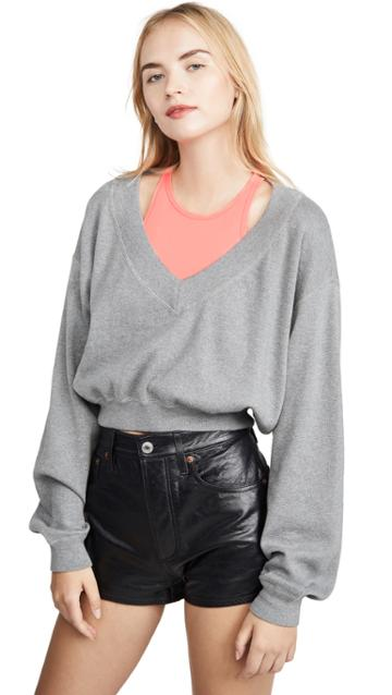 Alexanderwang T Bi Layer Sweater Top