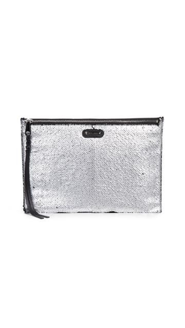 Rebecca Minkoff Large Zip Sequins Clutch