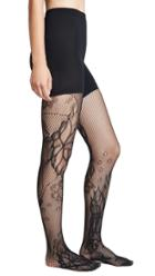 Spanx Fishnet Floral Mid Thigh Shaping Tights