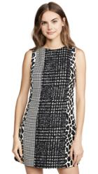 Alice Olivia Clyde Patchwork Aline Shift Dress