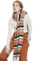 White Warren Multi Color Stripe Cashmere Travel Wrap