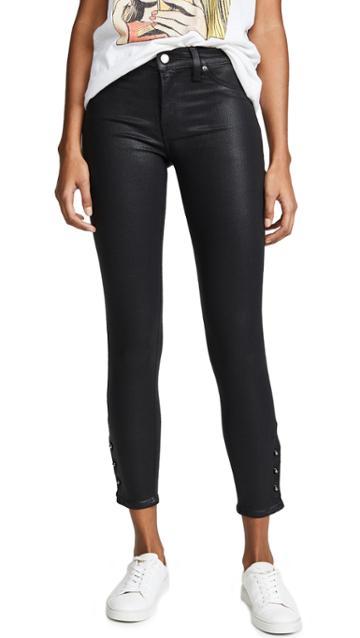 Hudson Nico Midrise Coated Crop Super Skinny Jeans