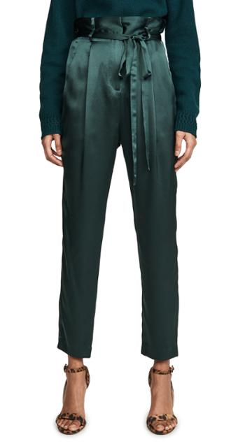 Michelle Mason Paperbag Cropped Trousers