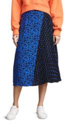 Alice Olivia Lilia Asymmetrical Pleated Midi Skirt