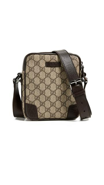 What Goes Around Comes Around Gucci Coated Canvas Cross Body Bag