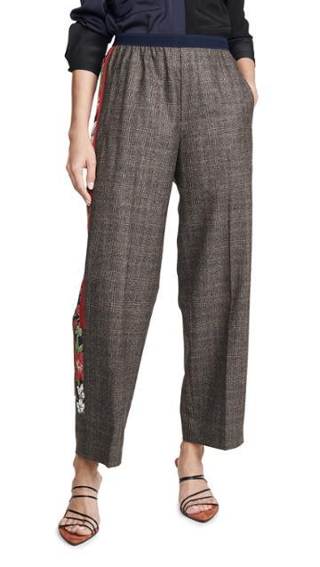 Kolor Side Stripe Check Trousers