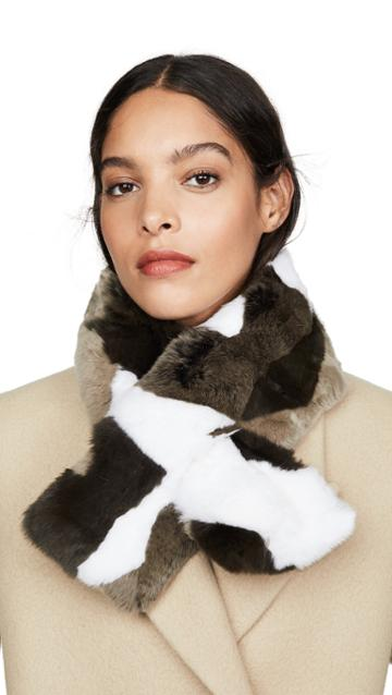 Adrienne Landau Rex Camo Pull Through Scarf