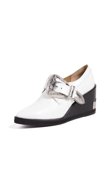 Toga Pulla Buckled Oxford Wedge