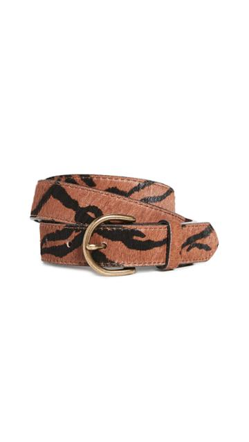 Madewell Tiger Medium Perf Haircalf Belt