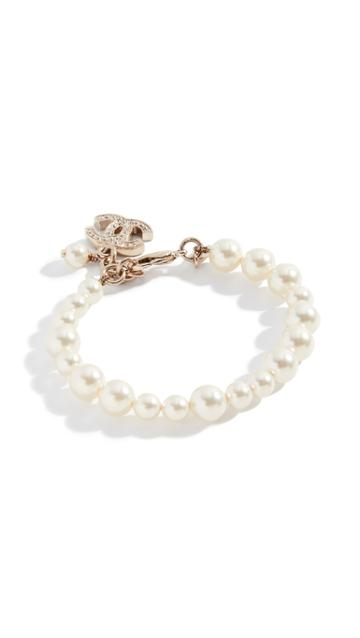 What Goes Around Comes Around Chanel Crystal Cc Bracelet