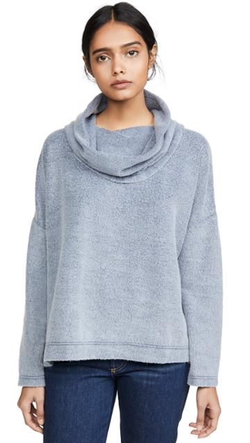 Z Supply The Fleece Scallop Cowl Neck Top