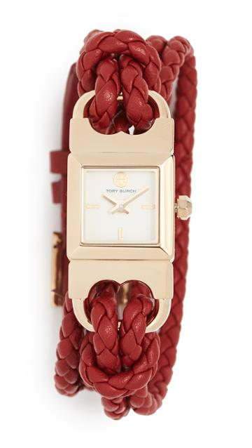 Tory Burch Double T Link Watch 18mm