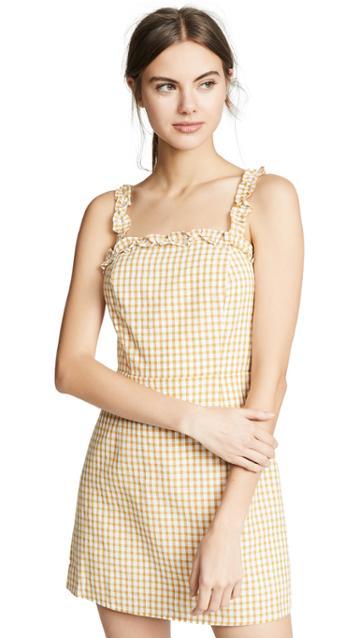 Lost Wander Mimosa Ruffle Dress