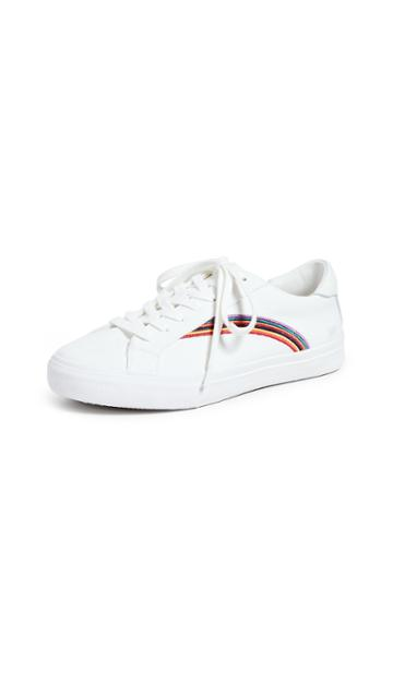 Madewell Women S Sidewalk Low Top Sneakers In Rainbow Embroidered Canvas