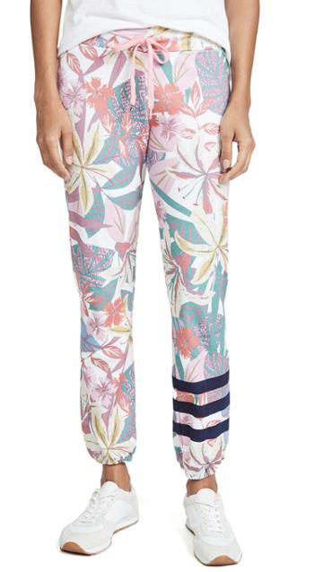 Sundry Stripes Floral Sweats