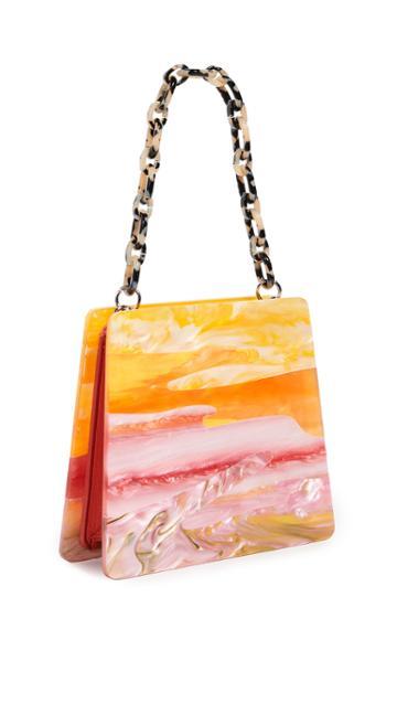 Edie Parker Abstract Sunset Hardshell Bag