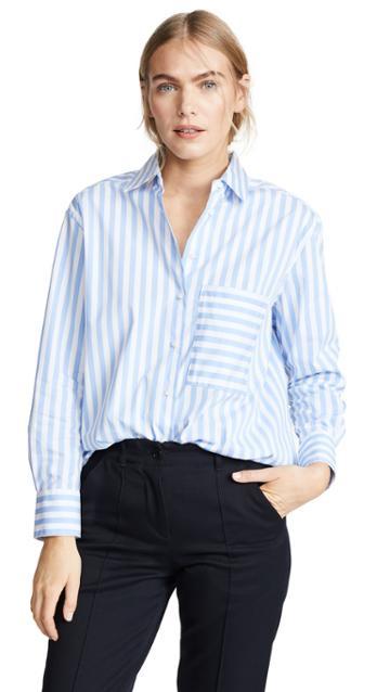 Ayr The Deep End Button Down Shirt