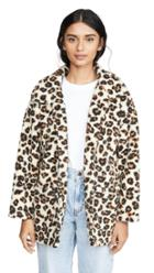 Z Supply The Leopard Sherpa Coat
