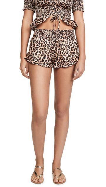 Peixoto Ruffled Cover Up Shorts