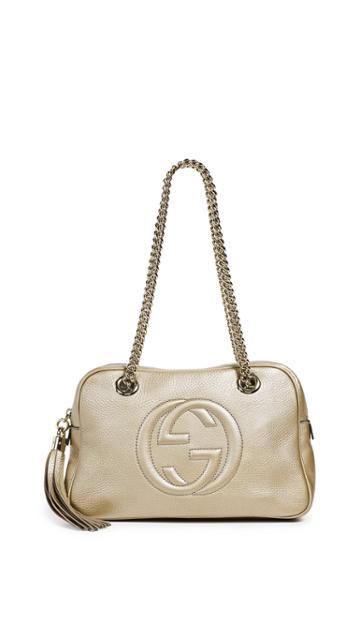 What Goes Around Comes Around Gucci Metallic Soho Shoulder Bag