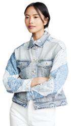 Blank Denim Patchwork Jacket