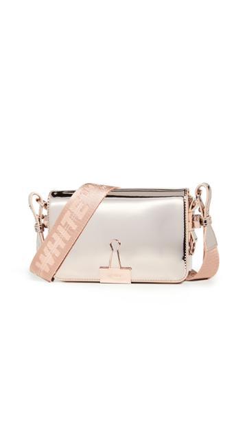 Off White Mirror Mini Flap Bag